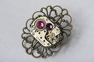 Odznaky/Brošne - Steampunková filigránová brošňa - 8815891_