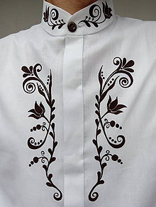 Košele - Pánska košeľa ručne maľovaná - 8813809_