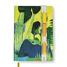 Papiernictvo - Zápisník A6 Príbeh lesa (Zápisník A6 Príbeh lesa (dierovaná gumička)) - 8811349_