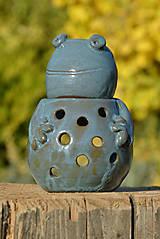 Svietidlá a sviečky - Žaba - Anura - aromalampa - 8811723_