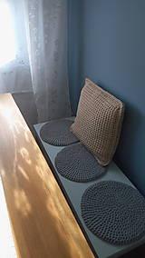 Úžitkový textil - Podsedák na lavicu (Čierna) - 8814492_