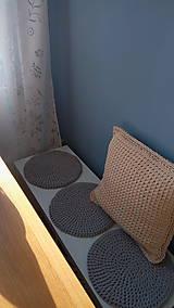Úžitkový textil - Podsedák na lavicu (Modrá) - 8814499_