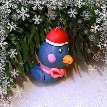 Dekorácie - Vianočná figúrka - vtáčik - 8811449_