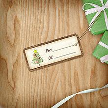 Papiernictvo - Vianočná menovka(vintage) - 8812534_