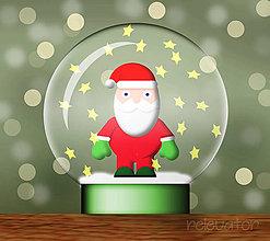 Grafika - Snežítko(grafika) - Santa - 8813499_