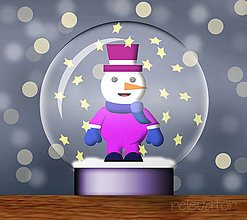 Grafika - Snežítko(grafika) - snehuliak - 8813945_
