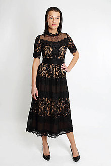 Šaty - Čipkové šaty ala Paris - 8818964_