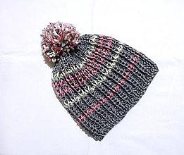 Detské čiapky - Detská čiapka - sivá - 8820622_