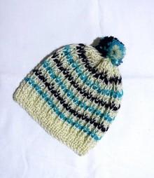 Detské čiapky - Detská čiapka - prúžok - 8820669_