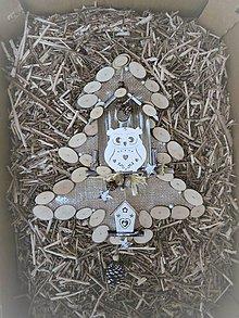 Dekorácie - Závesná dekorácia: Stromček natur s Rozárkou - 8821609_
