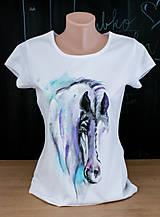 Tričká - fialový koník - 8820617_