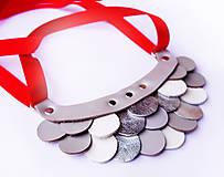 Náhrdelníky - Slzičkový kožený náhrdelník - 8819280_