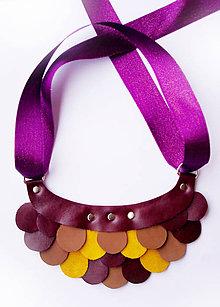 Náhrdelníky - Slzičkový kožený náhrdelník - 8819289_