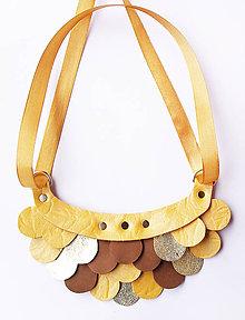 Náhrdelníky - Slzičkový kožený náhrdelník - 8819319_
