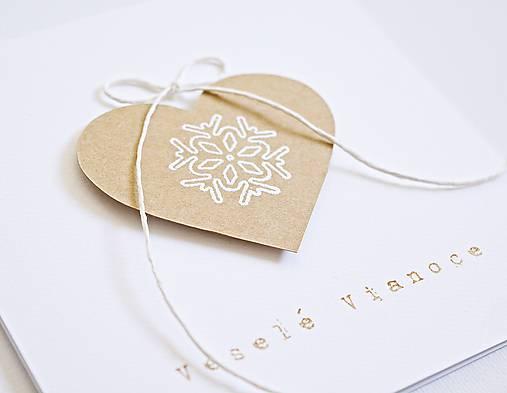 Papiernictvo - Vianočný pozdrav - medovníkové srdiečko - 8821208_