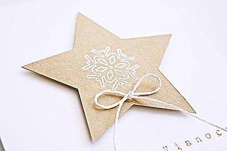 Papiernictvo - Vianočný pozdrav - medovníková hviezdička - 8821265_