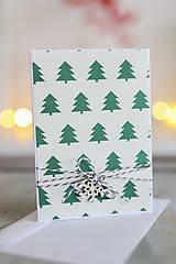 Papiernictvo - Vianočná pohľadnica Stromčeky - 8818706_