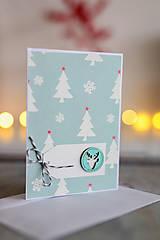 Papiernictvo - Scrapbook vianočná pohľadnica - 8818722_
