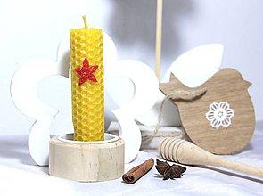 Svietidlá a sviečky - Sviečka z včelieho vosku - 8819565_