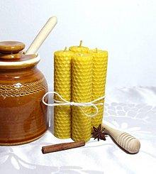 Svietidlá a sviečky - sviečky z vosku 120x30 mm - 8820245_