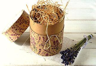 Drogéria - Darčekové balenie - tubus kvetinový (Darčekové balenie - tubus levanduľa) - 8822755_