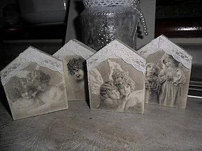 Dekorácie - Vianočné domčeky pre anjelikov. - 8821021_