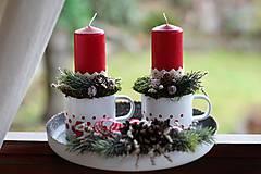 - Vidiecky vianočný svietnik - 8818545_