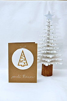 Papiernictvo - Vianočné prianie - Všade samé stromčeky - 8817949_