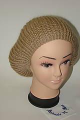 Pletená čiapka béžová