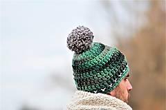 Doplnky - ... pánska čiapka GREEN HARMONY - 8817863_