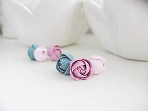 Náušnice - Cold flowers, set náušnic - 8817757_