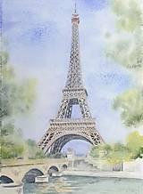 Obrazy - Eiffelova veža - akvarel - 8821720_