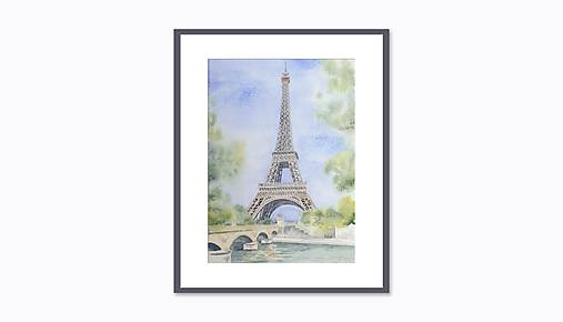 Eiffelova veža - akvarel