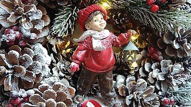 Dekorácie - Vianočný veniec s lyžami - 8817185_