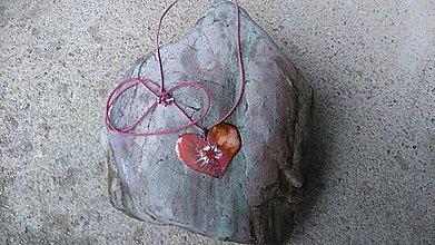 Náhrdelníky - Srdce z lásky - 8820361_
