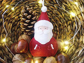 Dekorácie - Vianočná dekorácia (Mikuláš) - 8818363_
