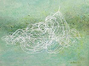 """Obrazy - Akvarelový obraz """"Biele línie"""" - 8821451_"""