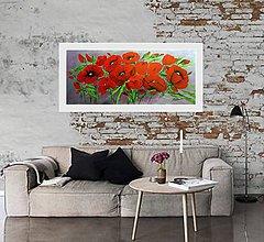 Obrazy - Červené maky - 8822429_