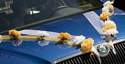 Nezaradené - Svadobná výzdoba na auto - 8822774_