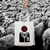 Nákupné tašky - Poradie pacientov určuje lekár (bavlnená taška) - 8821819_