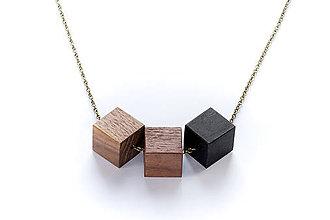 Náhrdelníky - Drevený náhrdelník - 8821285_