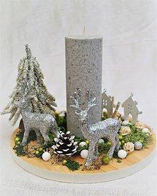 Dekorácie - Dekorácia 28 - vianočná - svietnik - 8819035_