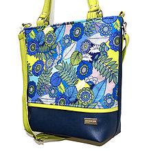 Kabelky - kabelka Roda Chic Blue Flower - 8817612_