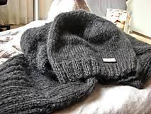 Čiapky -  Mohérový set: čiapka a šál, antracitový - 8820526_