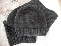 Čiapky -  Mohérový set: čiapka a šál, antracitový - 8820534_