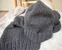 Čiapky -  Mohérový set: čiapka a šál, antracitový - 8820535_