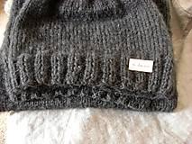Čiapky -  Mohérový set: čiapka a šál, antracitový - 8820649_