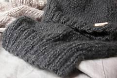 Čiapky -  Mohérový set: čiapka a šál, antracitový - 8820670_