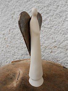 Socha - Anjel bielo-zlatý - 8819461_