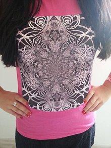 Tričká - Dámske tričko (Ružová) - 8822611_